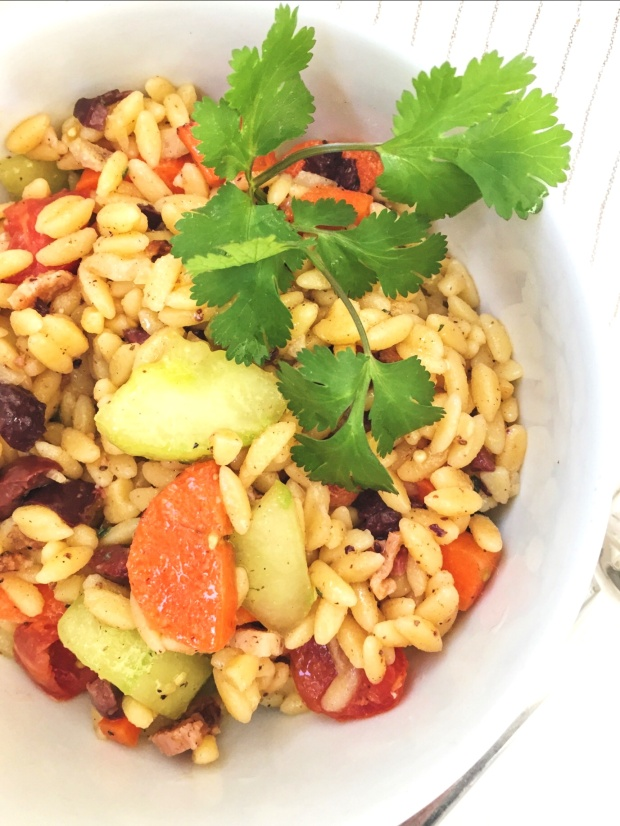 Gluten free orzo pasta salad recipe - gut and glamour
